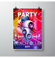Amazing Party Flyer Design with speakers vector image