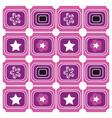 background geometric purple vector image