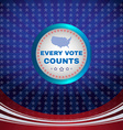 Every Vote Counts Banner vector image
