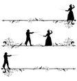 fencing people vector image