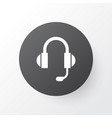 headphone icon symbol premium quality isolated vector image
