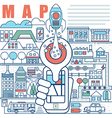 Infographics elements concept of Local Map vector image