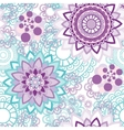 Mandala ornament seamless pattern vector image