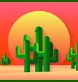 mexican desert flat vector image