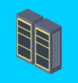 server rack isometric vector image