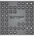 Set of simple buttons vector image