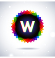 Spectrum logo icon Letter W vector image