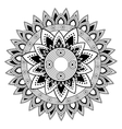 Mandale of bohemic and ornament concept vector image