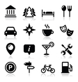 Travel tourism icons set - vector image vector image