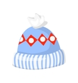 knitted winter hat isolated on white vector image