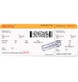 Pattern of a boarding pass or air ticket vector image