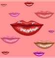 Female lips texture vector image