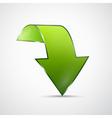 Abstract 3d Green Arrow Icon vector image vector image