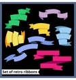 Set of retro and flat ribbons vector image vector image