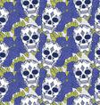 Skull pattern design vector image