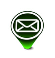 glossy email icon vector image