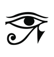 Eye of Horus icon simple style vector image