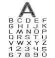 celtic font vector image vector image