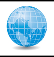 Blue Earth globe - icon vector image