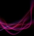 Bright neon swoosh speed wave background vector image