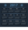 Calendar 2017 year design template in vector image