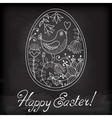 Easter egg drawn by hand vector image