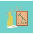 flat icon on stylish background lesson economy vector image