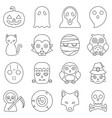 halloween cute cartoon character vector image