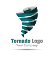 Hurricane typhoon tornado wind storm Volume Logo vector image