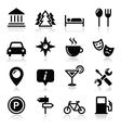 Travel tourism icons set - vector image