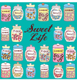 Candy Jars Background vector image