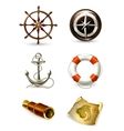 Marine set high quality icons vector image vector image