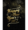New Year 2017 gold lettering card design vector image