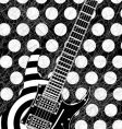 rock guitar illustration vector image vector image