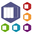 Rolls of paper icons set vector image