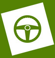 car driver sign  white icon obtained as a vector image