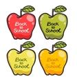 Cute cartoon apples Back to school vector image