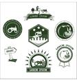 Set of retro vintage farm fresh labels badges and vector image