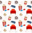 Cinema seamless texture vector image vector image