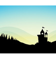Silhouette Castle vector image vector image