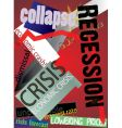 crisis poster vector image vector image