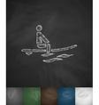 surfer in ocean icon Hand drawn vector image
