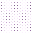 Tile pattern with violet polka dots on white vector image