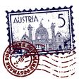 Postmark of austria vector image