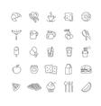 breakfast icons stock set vector image