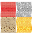 Color brick wall textures collection vector image