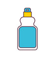 detergent bottle icon in color sections silhouette vector image