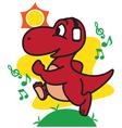 Dinosaur Jogging vector image