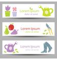 Gardening banners vector image