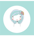 Horoscope Virgo sign girl head vector image